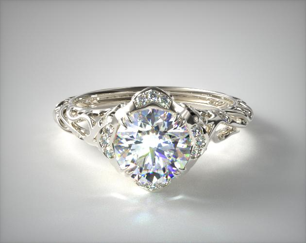 Platinum Diamond Filigree Engagement Ring James Allen