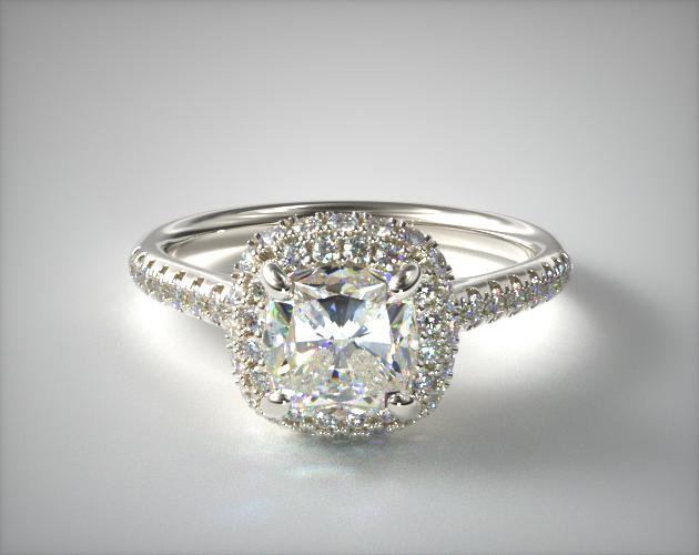 Platinum Falling Edge Pave Diamond Engagement Ring James Allen