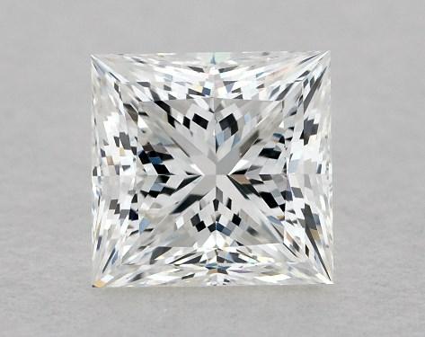 0.72 Carat Princess DiamondF Color VVS2 Clarity Good Cut James Allen