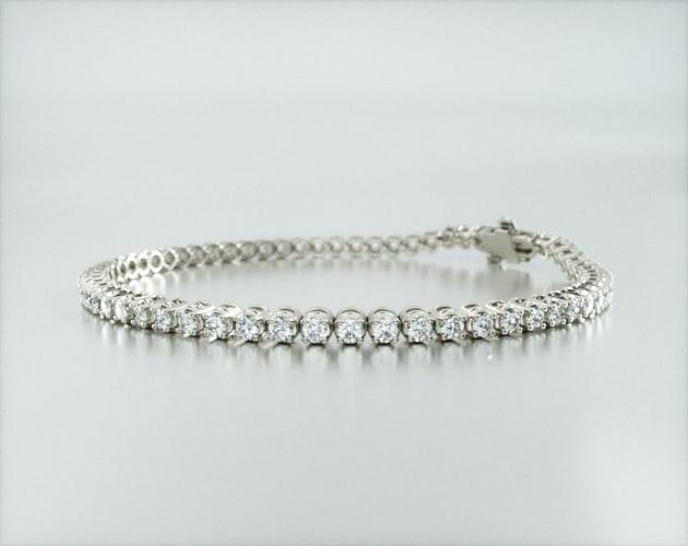 14K White Gold Four Prong Diamond Tennis Bracelet (2 CTW - H-I / SI1-SI2) James Allen