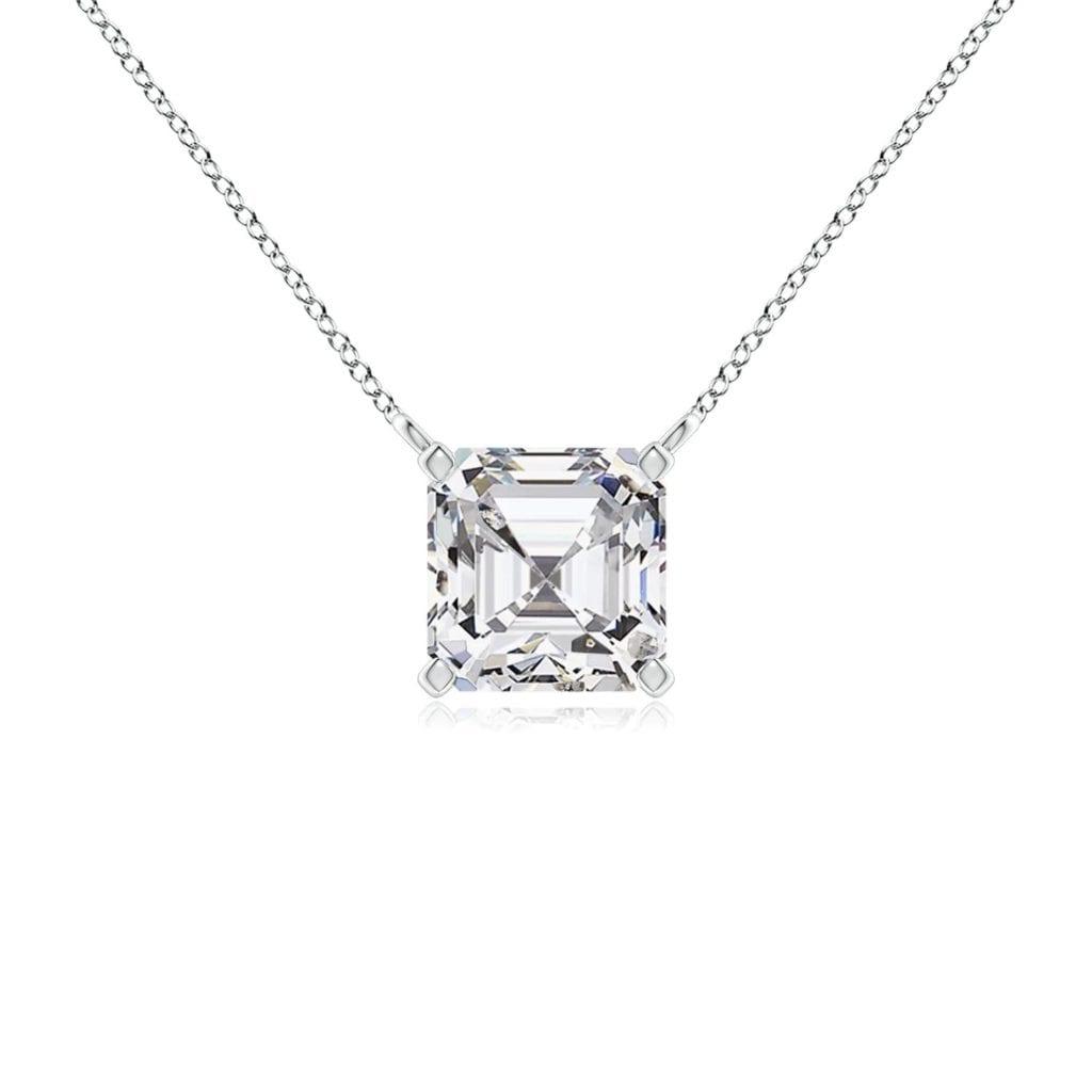 Asscher-Cut Diamond Solitaire Pendant Angara