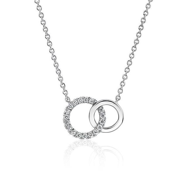 Mini Duet Circle Diamond Necklace Blue Nile