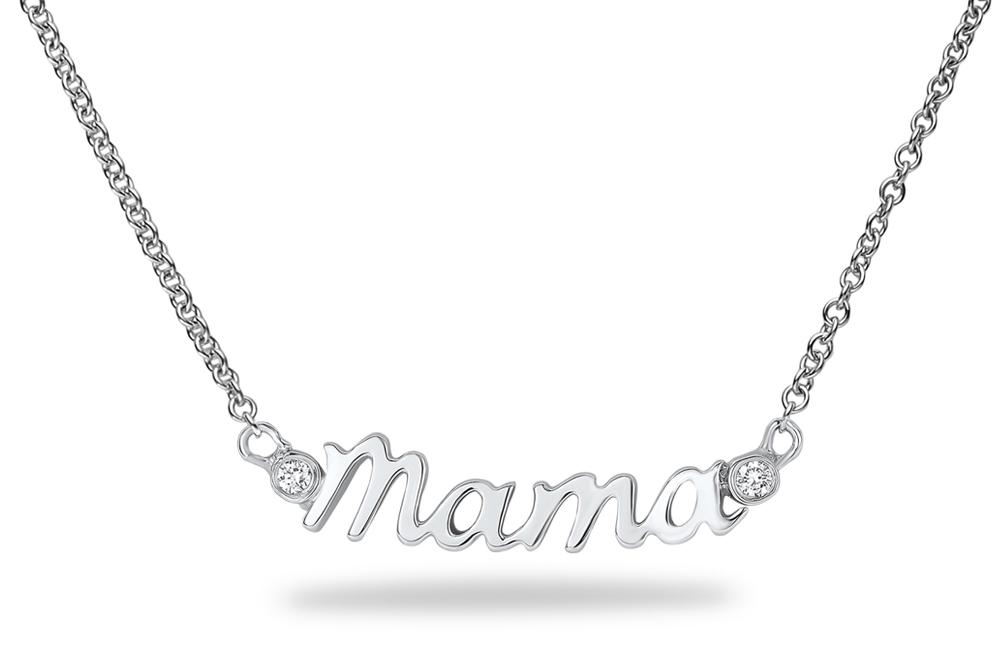Scripts Collection Diamond Necklace In 14kt White Gold MAMA Ritani