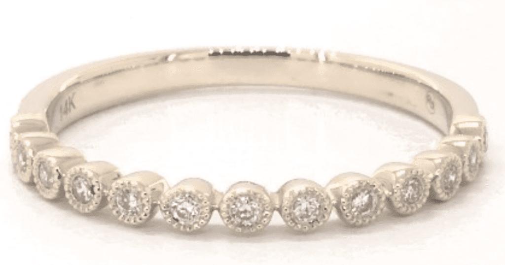 14K Yellow Gold Round Bezel Vintage Diamond Ring James Allen