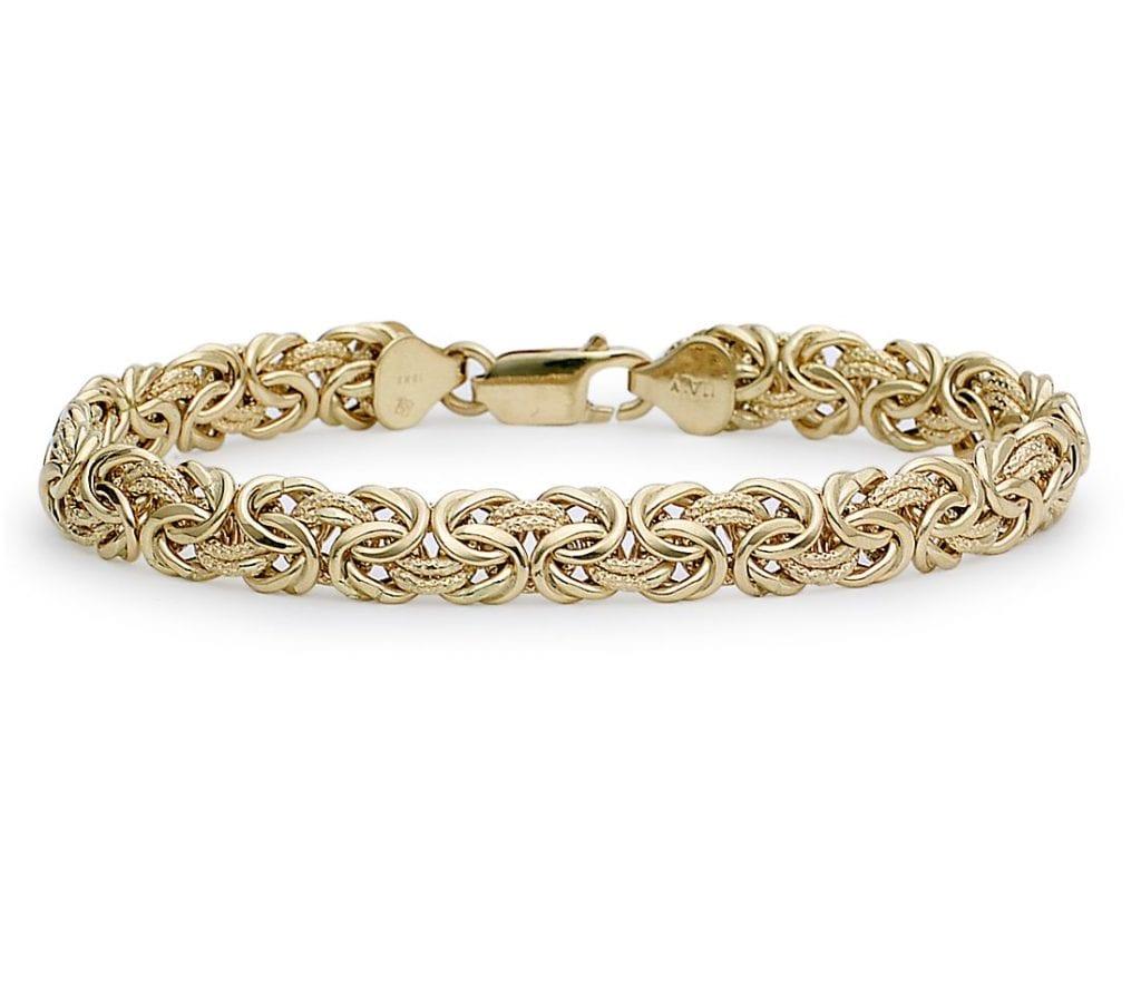 Byzantine Bracelet in 18k Italian Yellow Gold Blue Nile