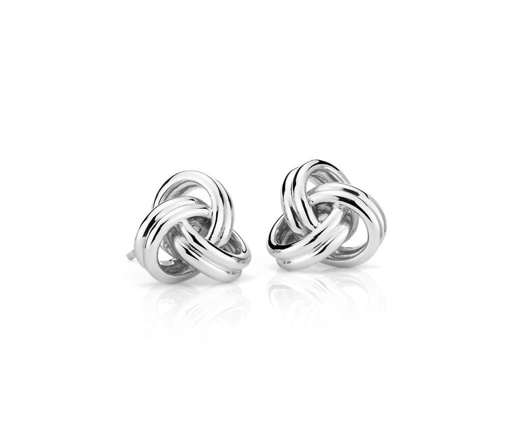 Grande Luxe Love Knot Stud Earrings in Sterling Silver Blue Nile