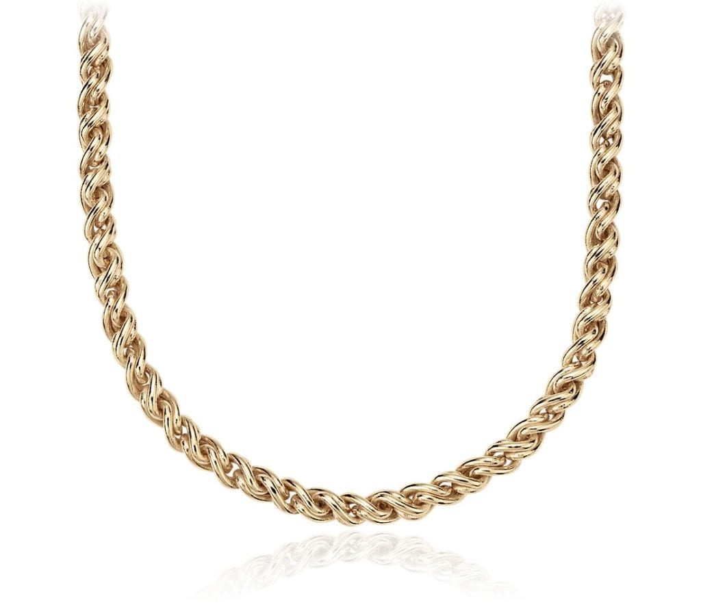 Woven Necklace in 14k Yellow Gold Blue Nile