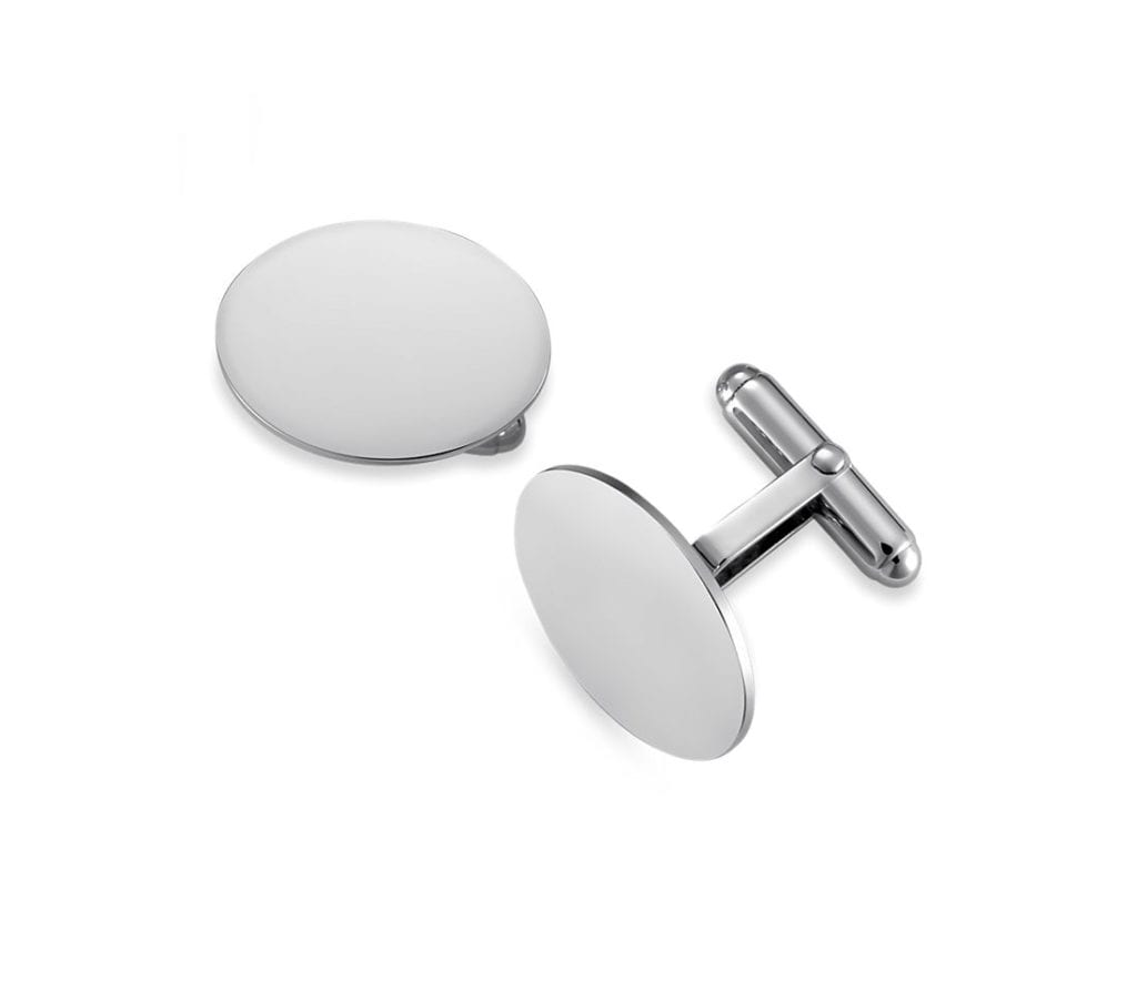 Oval Cuff Links in Sterling Silver Blue Nile