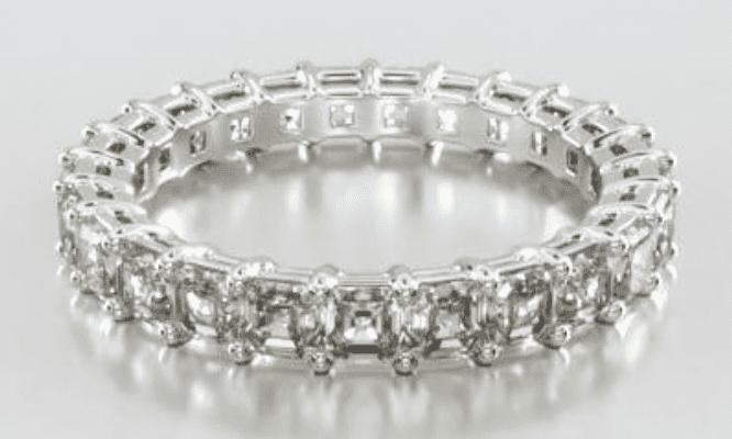 14K White Gold Asscher Cut Diamond Eternity Ring James Allen