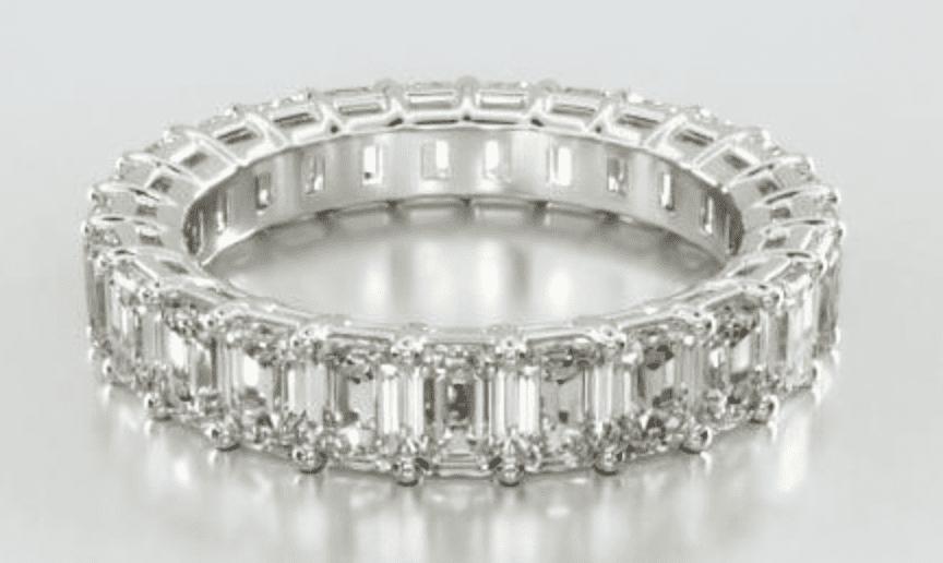 14K White Gold Emerald Cut Diamond Eternity Ring James Allen