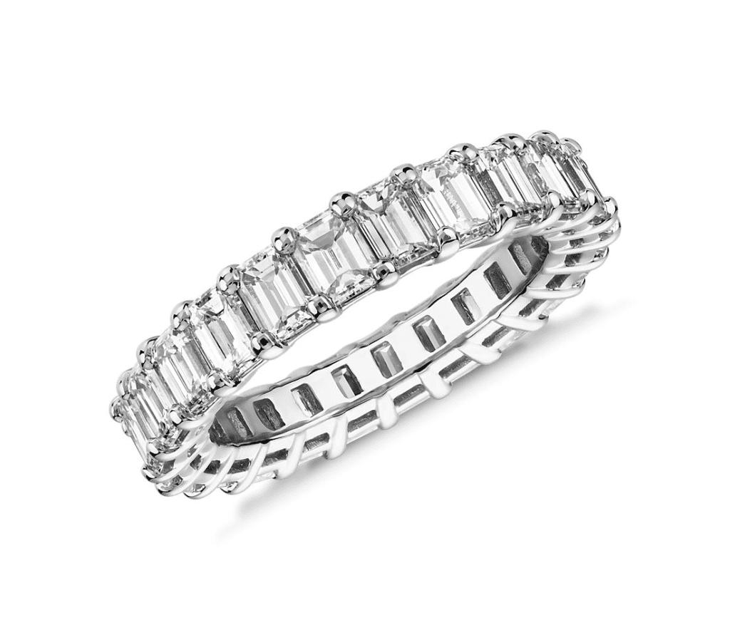 Emerald Cut Diamond Eternity Ring Blue Nile