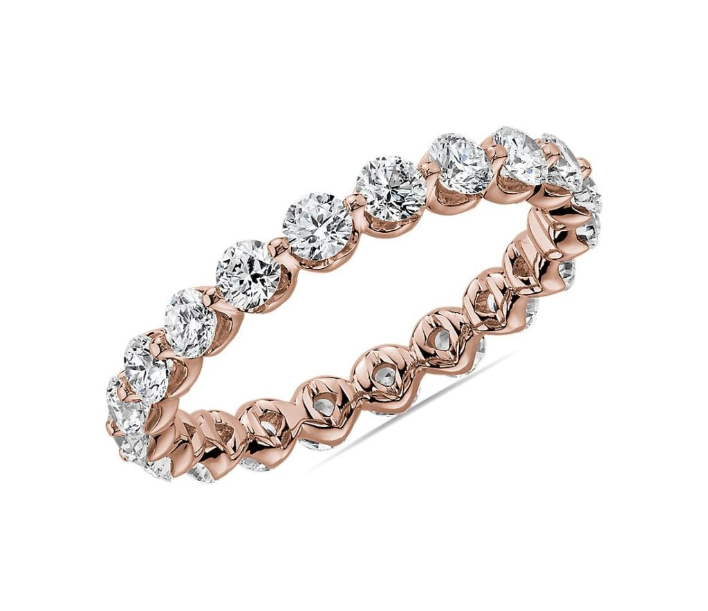 Floating Diamond Eternity Band in 14k Rose Gold (1 1/2 ct. tw.) Blule Nile