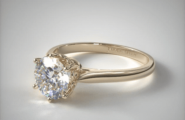 """14K Yellow Gold """"Danhov"""" Spring Blossom Six Prong Solitaire Engagement Ring by Danhov James Allen"""