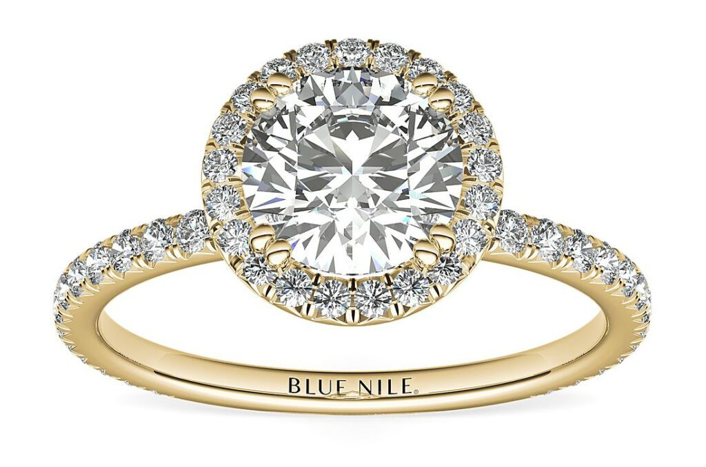 Blue Nile Studio Heiress Halo Diamond Engagement Ring