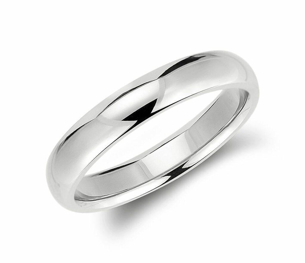 Comfort Fit Wedding Ring in Palladium Blue Nile