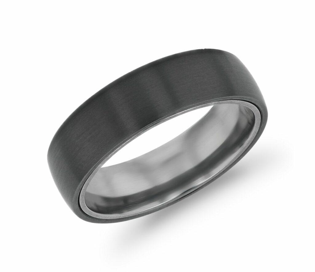Matte Wedding Ring Blue Nile