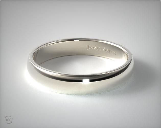 Palladium 5mm Slightly Domed Comfort Fit Wedding Ring James Allen