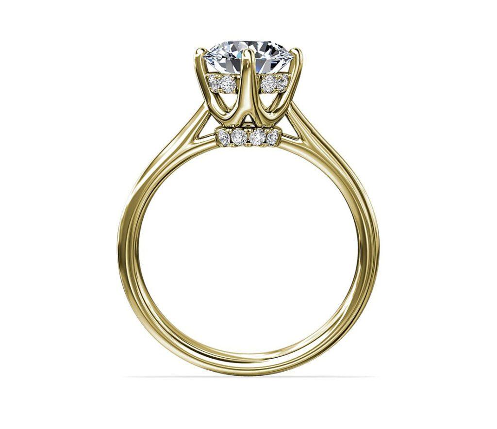 East-West Solitaire Plus Diamond Engagement Ring Blue Nile