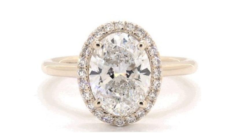 engagement ring - lab-created diamond