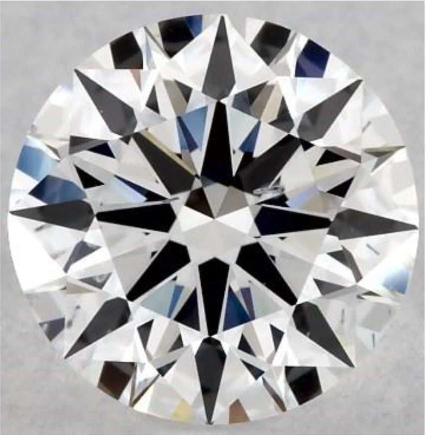 history of lab-grown diamonds - synthetic diamond, D color SI clarity