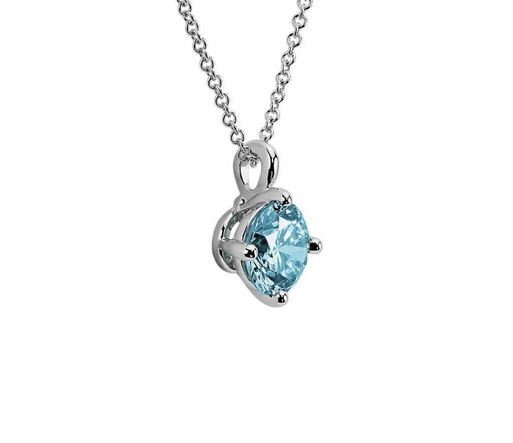 grading lab-grown diamonds - blue diamond