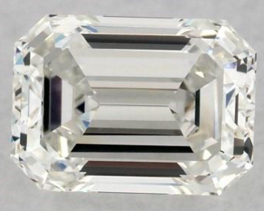 synthetic emerald cut diamond